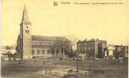 TAMINES   Place Communale, Lieu De Massacre Du 22 Aout 1914. - Sambreville