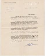 Lettre Du Député Du Loiret Pierre Gabelle, 17/3/1956 - Documents Historiques