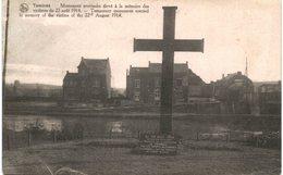 TAMINES  Monument Provisoire élevé à La Mémoire Des, Victimes Du 22 Aout 1914. - Sambreville