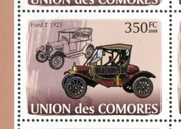 19/5 (vert) Comores Timbre XX Voiture Car Ford 1923 - Cars