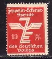 GERMANY GERMANIA ALLEMAGNE 1912 ZEPPELIN ERFENER SPENDE Des Deutschen Volfes POSTER STAMP LABEL VIGNETTE 10p MNH - Nuovi