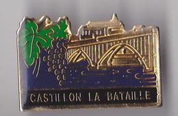 PIN'S THEME VILLE DE CASTILLON LA BATAILLE  EN GIRONDE SYMBOLE  LE RAISIN  PINS RARE - Cities