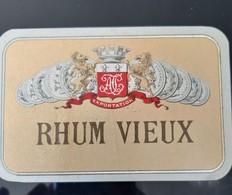 ETIQUETTE ANCIENNE RHUM VIEUX AVEC MEDAILLE EMPEREUR NAPOLEON III ET LION ALCOOL RUM - Rhum
