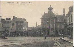 Carte Postale Ancienne De Gournay En Bray L'hotel De Ville Et La Poste Pas Circulé - Gournay-en-Bray