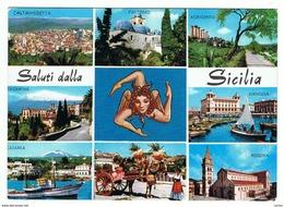 SALUTI  DALLA  SICILIA:   PER  LA  SVIZZERA  -  FG - Saluti Da.../ Gruss Aus...