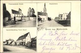 Cp Muttersholtz Müttersholz Elsass Bas Rhin, Handlung Victor Beyer, Kirche, Hauptstraße - France