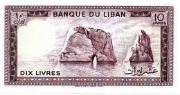 Billet LIBAN 10 Livres - Banque Du Liban - Rocher Mer - Lebanon