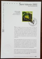 FDC Sur Document - YT N°3459 - Saint Valentin / Coeur / Yann Arthus Bertrand - 2002 - 2000-2009