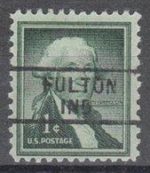 USA Precancel Vorausentwertung Preo, Locals Indiana, Fulton 729 - Etats-Unis