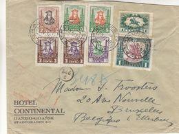 Lituanie - Lettre De 1930 - Oblit Kaunas - Exp Vers Etterbeek - Chevaux - Hôtellerie - - Lituanie