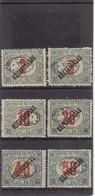 # Z.9785 Hungary, Debrecen I. 1919 Romanian Occupation Hungarian Full Set Overprint MNH: Porto Kőztársaság - Debreczin