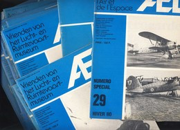 AELR Musée De L'air Bruxelles/Luchtvaartmuseum 18x Tijdschrift. 18 Revues: Fiat CR.42, Congo/Kongo, Meteor, Savoia, Enz. - Aviation