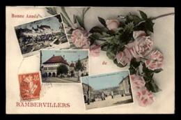 88 - RAMBERVILLERS - BONNE ANNEE - MULTIVUES ET FLEURS - Rambervillers
