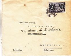 Lituanie - Lettre De 1938 ° - Oblit Kaunas - Exp Vers Bruxelles - Aviateurs - Hélice - Lituanie