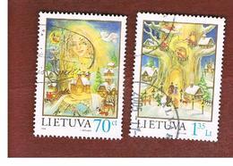 LITUANIA (LITHUANIA)   - SG  689.690  -        1998 CHRISTMAS (COMPLET SET OF 2)   -   USED - Lithuania
