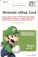 Game Card Italy Nintendo 2012 Luigi - Gift Cards