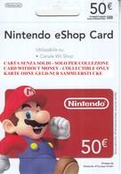 Game Card Italy Nintendo 2012 Mario - Gift Cards