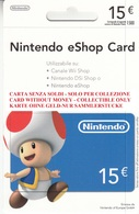 Game Card Italy Nintendo 2012 - Gift Cards