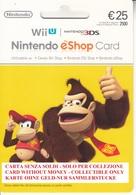 Game Card Italy Nintendo 2013 Donkey Kong - Gift Cards