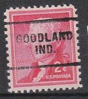 USA Precancel Vorausentwertung Preo, Locals Indiana, Goodland 703 - Etats-Unis