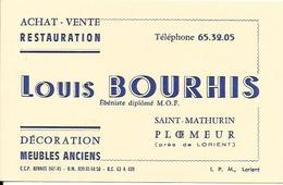 "PLOEMEUR, Carte De Visite ""LOUIS BOURHIS"" - Plömeur"