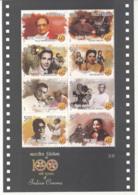 India MNH 2013 MS 3/6 , 100 Years Of Indian Cinema, Actor, Art, Music, Ashok Mehta, Sridhar, Bhanumathi, Geeta Dutt, Etc - Indien