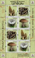 Armenia - Nagorno-Karabakh - 2019 - Mushrooms - Preservation Of Wildlife - Mint Special Souvenir Sheet - Arménie