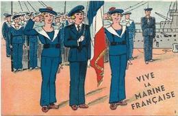 LOT DE 7 CARTES HUMORISTIQUE SUR LA MARINE - Humour