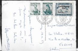 AUSTRIA - ANNULLO SPECIALE 11a IEF KONGRESO - 9a-15a - LINZ2-MAJO 1959 SU CARTOLINA SALUTON EL LINZ - Esperanto