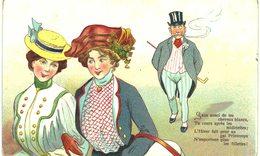 Thème  -illustration - Sans Souci De Tes Cheveux Blancs Tu Cours Après Les Midinettes... - 1900-1949