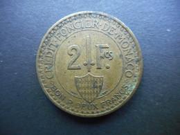Monaco 2 Francs 1926 Louis II - Monaco
