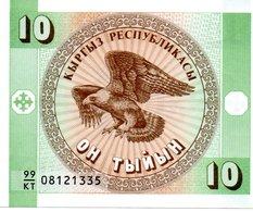 KAZAKHSTAN Billet Vert 10 Tyiyn Neuf - Aigle Rapace Oiseau - Kazakhstan