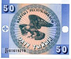 KAZAKLSTAN Billet Violet 50 Tyiyn Neuf - Aigle Rapace - Kazakhstan
