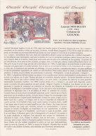 = Document Educaphil Sur Laurent Mourguet Créateur De Guignol, Correspondance Avec Image Timbre 2861 De 1994 - Philatélie & Monnaies