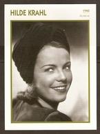 PORTRAIT DE STAR 1940 AUTRICHE  AUSTRIA ÖSTERREICH - ACTRICE HILDE KRAHL - ACTRESS CINEMA - Fotos