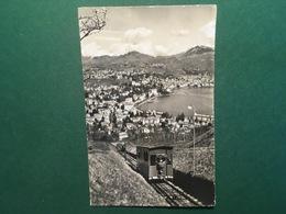 Cartolina Lugano - Paradiso Con La Funicolare Del Monte S. Salvatore - 1916 - Cartoline