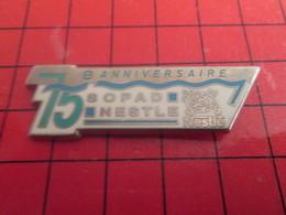 SP15 Pins Pin's / Rare & De Belle Qualité  THEME : MARQUES / SOPAD NESTLE 75e ANNIVERSAIRE Par HELIUM PARIS - Marques
