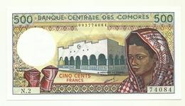Comore - 500 Francs 1986 - Comore
