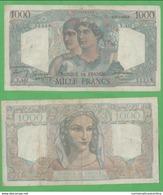 France Francia 1000 Francs 1948 Minerve Et Hercule - 1871-1952 Antichi Franchi Circolanti Nel XX Secolo