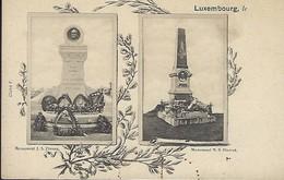 Luxembourg  -  Monument  J.A.Zinnen  -  Monument  N.S. Pierret - Ansichtskarten