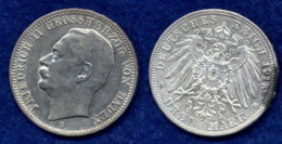 Baden 3 Mark 1915 Friedrich II. Ag900 - 2, 3 & 5 Mark Plata