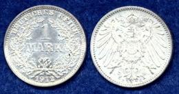 Deutsches Reich 1 Mark 1912E Großer Reichsadler Ag900 - [ 2] 1871-1918 : Empire Allemand