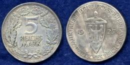 Deutsches Reich 5 Mark 1925F Ritter Mit Schild Ag500 - 5 Reichsmark
