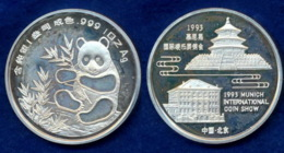 China Medaille Panda Münzmesse München 1993 1oz PP - China