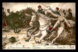 GUERRE 14/18 - ILLUSTRATEURS - A ARMENTIERES, CHASSEURS D'AFRIQUE A LA POURSUITE DES HUSSARDS DE LA MORT - Guerre 1914-18