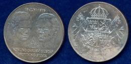 Schweden 50 Kr. 1876 Gustav/Silvia Ag925 27g - Sweden