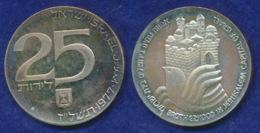 Israel 25 Lirot 1977 29 Jahre Israel Ag500 20g - Israel