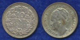Niederlande 10 Cent Wilhelmina 1941 Ag640 - 10 Cent