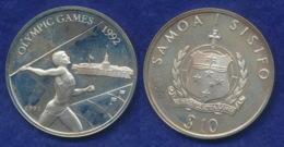 Samoa 10Dollar 1991 Olympia Barcelona 1992 Ag925 31,4g - Samoa