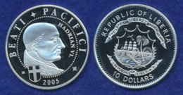 Liberia 10 Dollars 2006 Hadrian VI. Ag999 20g - Liberia